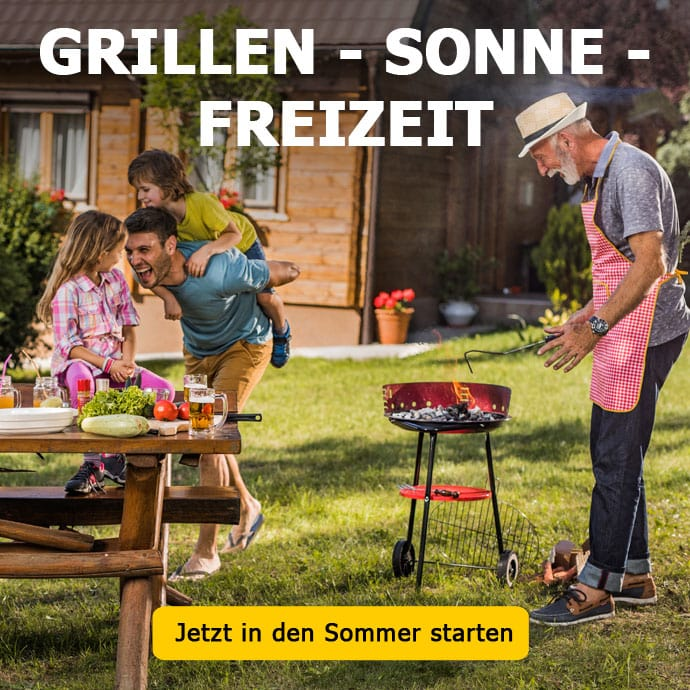 Grillen - Sonne -Freizeit