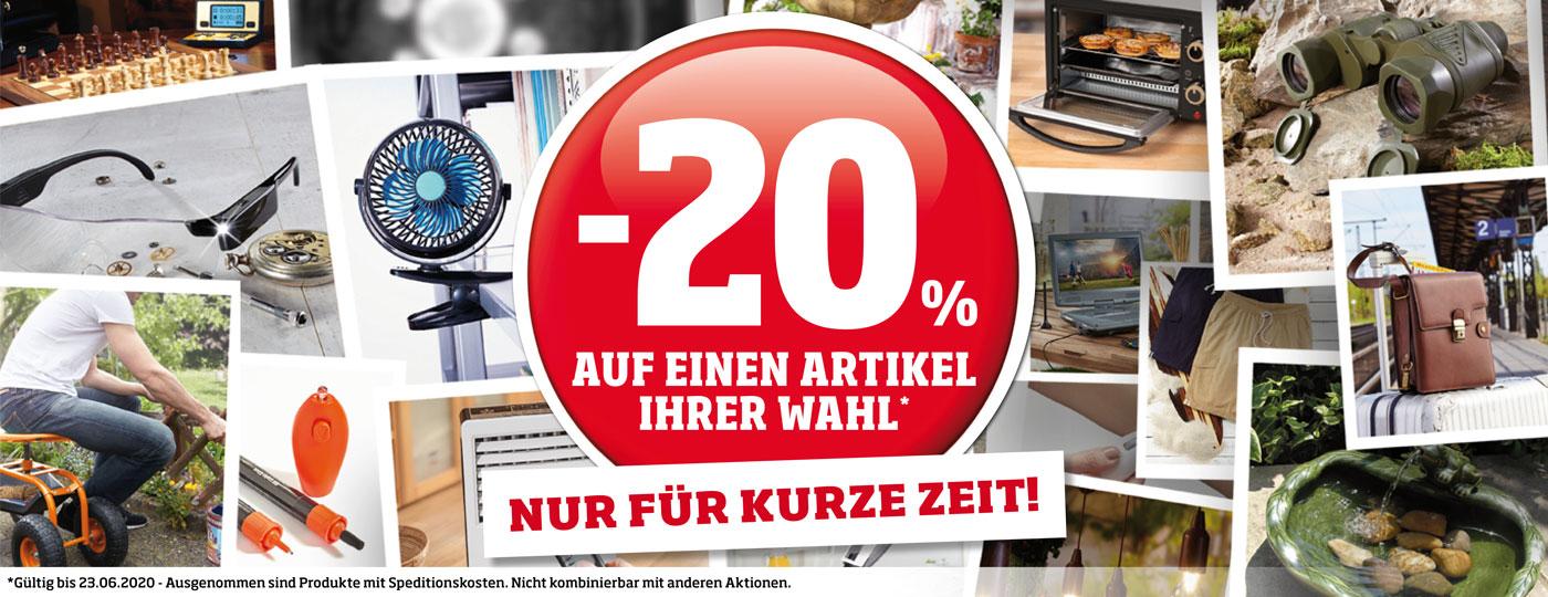 20% Rabatt auf Ihr Wunschprodukt!