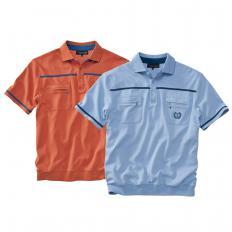 Herren-Komfort-Poloshirt 2er Set