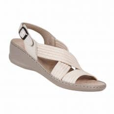 Aerosoft Stretch-Sandale, beige