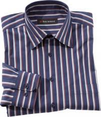 Exklusives Streifenhemd Blau-gestreift