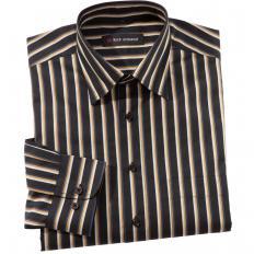 Exklusives Streifenhemd Schwarz-gestreift