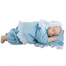 Porzellan-Babypuppe mit Spieluhr, Junge