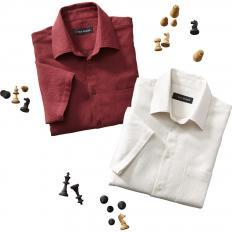Herren-Strukturhemd mit Halbarm