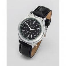Armbanduhr mit Licht und Lupe