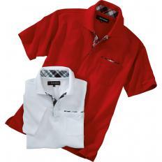 Poloshirt mit Kontrastbesatz 2er-Set