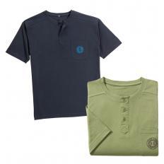 Serafino-Shirt im Zweier-Pack