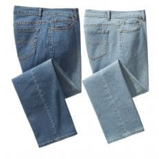 Stretch-Jeans als Set