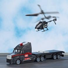 Ferngesteuerter Truck mit Helikopter
