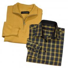 Pullover + Karohemd (Set)