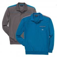Polo-Langarmshirt,SET,3XL