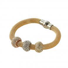 Vergoldetes Schlangenketten-Armband