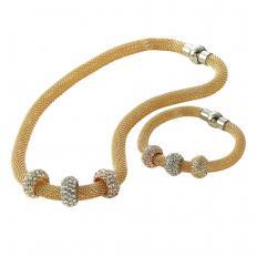 Vergoldeter Schlangenketten-Schmuck
