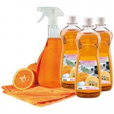 Orangenkraftreiniger-Set