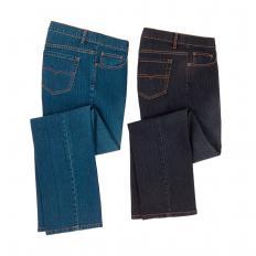 Herren-Stretch-Jeans (schwarz)