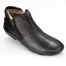 Schafsfell-Reißverschluss-Schuh