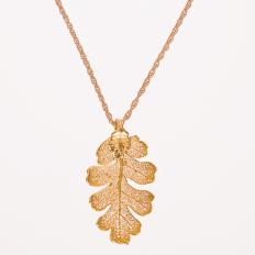 Vergoldetes Eichenblatt