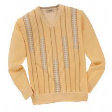 Sommerlicher Jacquard-Pullover