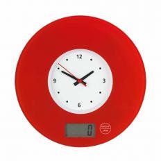 Küchenwaage mit Uhr
