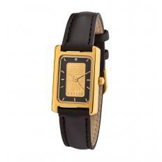Goldbarren-Uhr mit Diamant