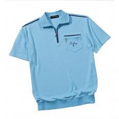 Her.Komfort Poloshirt,Aqua,3XL