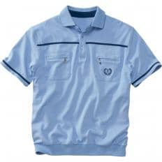Set:Poloshirt,blau+Ziegel,3XL