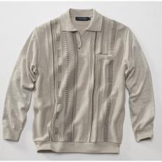 Polo-Pullover mit Brusttasche