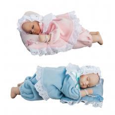 Porzellan-Babypuppe mit Spieluhr