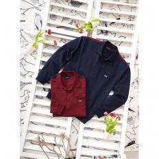 Langarm-Shirt,marine,S