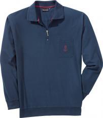 Langarm-Poloshirt,Marine,XXL