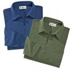 Langarm Polo-Shirts im 2er-Set