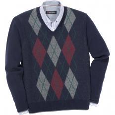 Rauten-Pullover