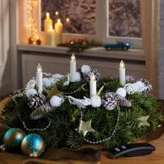 Kabellose LED-Mini-Weihnachtskerzen