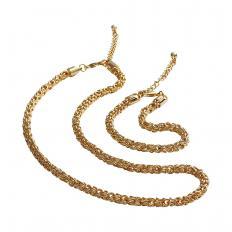 Vergoldetes Königsketten-Schmuckset