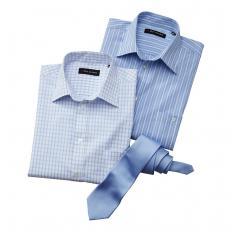 2 Sommerhemden mit Krawatte