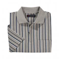 Poloshirt m. Reissverschl.grau