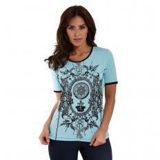 T-Shirt mit ½-Arm und Wappendruck