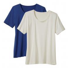 T-Shirts mit Rundhals im 2er-Pack