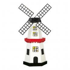 Beleuchtete Solar-Windmühle
