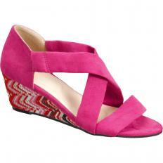 Wildleder-Sandalette mit Keilabsatz