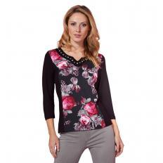 Shirt mit Rosendruck