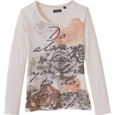 Baumwollshirt mit Rosendruck