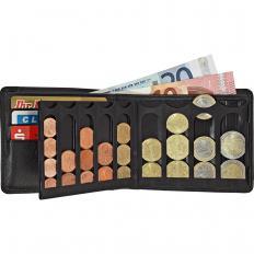 Lederbörse mit Münzsortierer