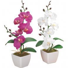 Kunstblumen Orchideen - 2er Set