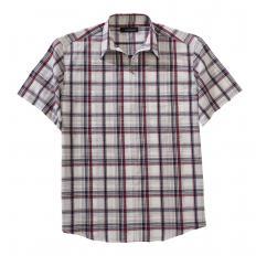 Seersucker-Reißverschlusshemd