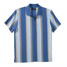 Jersey-Shirt mit Ganzreißverschluss