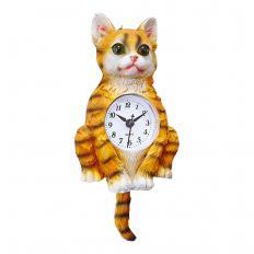 Pendel-Wanduhr Katze
