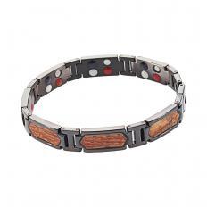 Titan-Armband mit Rosenholz