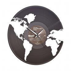 """Schallplattenuhr """"Welt"""""""