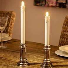 Kerzenständer mit virtueller Flamme 2er-Set